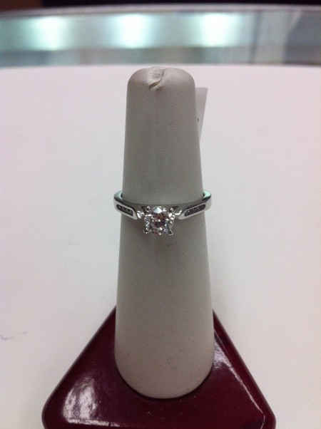 Jessi's beautiful ring with my mother's diamond
